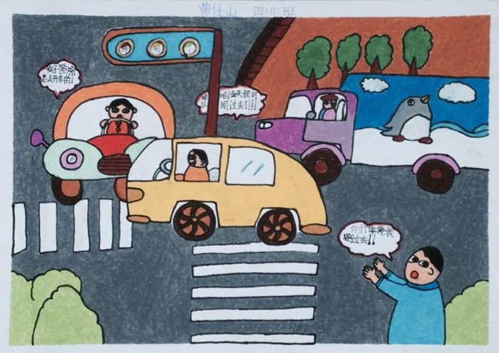 琼海市第一小学安全教育主题活动月学生绘画作品展图片